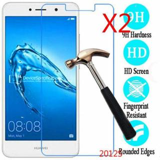 2x 9H Tempered Glass Screen Protector For Huawei Y3 Y5 II Y6 Pro Y7 prime 2017