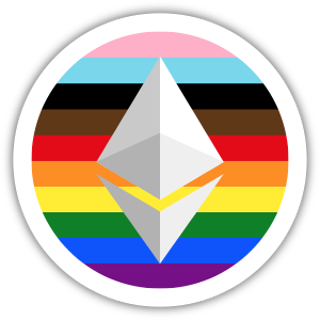 Collectible NFT Badge: I ❤️ ETH #8 of 10