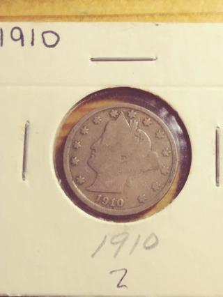 1910 Liberty Barber V Nickel! Full Date Readable! 232