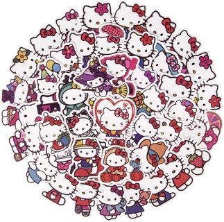 (≗ ᆽ ≗) 50 Piece Hello Kitty Stickers