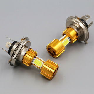 [GIN FOR FREE SHIPPING] DC 12V H4 18W LED 3 COB Motorcycle Headlight Bulb Hi/Lo Beam Light