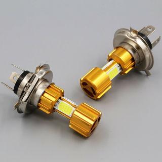 DC 12V H4 18W LED 3 COB Motorcycle Headlight Bulb 2000LM 6000K Hi/Lo Beam Light