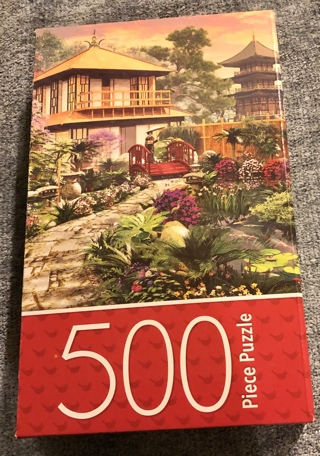BNIB 500 Piece Colorful Puzzle Of Japan Garden in Unique Shaped Pieces. To Highest Bidder.