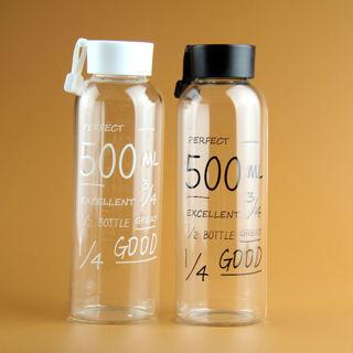 Spots Portable 500ML Clear Plastic Sport Travel Fruit Juice Water Cup Bottle