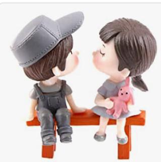 DAWEIF 3Pcs/Set Mini Stool Couples Dolls Fairy Garden Miniatures Decor Dollhouse/Terrarium