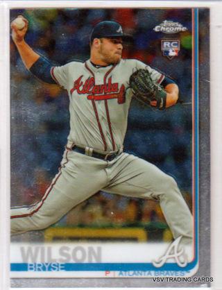 Bryse Wilson, 2019 Topps Chrome ROOKIE Card #56, Atlanta Braves