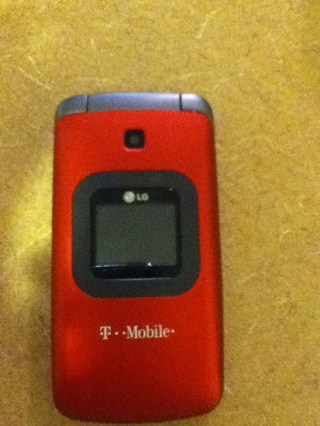 Free T Mobile Red Lg Flip Phone W Cam 300 Value Free Shipping