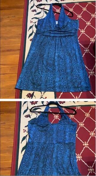 Xl Snakeskin print dress