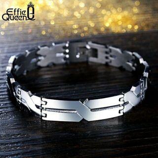 """Personality """"X"""" Pattern Men Bracelet Stainless Steel Bracelets Jewelry"""