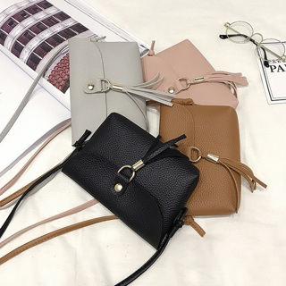 Fashion Women Vintage Handbag Small Mini Flap Messenger Tassel Shoulder Bag