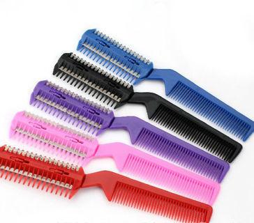 DIY Hair Razor Comb Hairdressing Thinning Trimmer Punk Home Professional Scissor