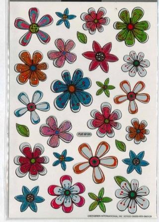 Epoxy Flower Stickers
