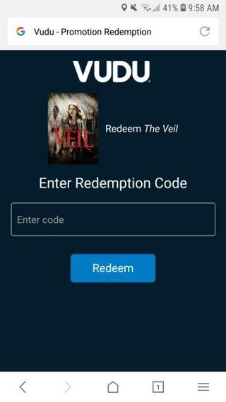 ☆☆☆ THE VEIL SD RARE VUDU REDEEM ☆☆☆