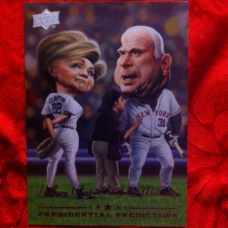 Free Hillary Clinton Vs John Mccain Baseball Card Sports