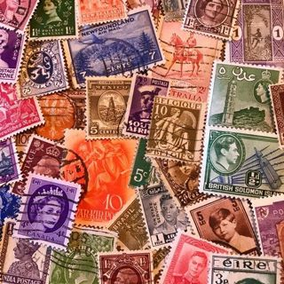 16 Random Foreign Stamps