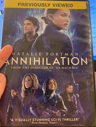 Annihilation DVD (2018) Psychedelic Science Fiction Thriller Movie Film with Natalie Portman