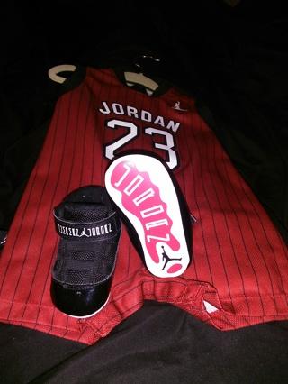 db36b83877d4 Babyboy Jordan Jersey size 3 6months w  Jordan shoes size 3c Both NEW NEVER
