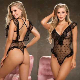 Sexy Lingerie Lace Dress Babydoll Women's Underwear Nightwear Sleepwear Bodysuit