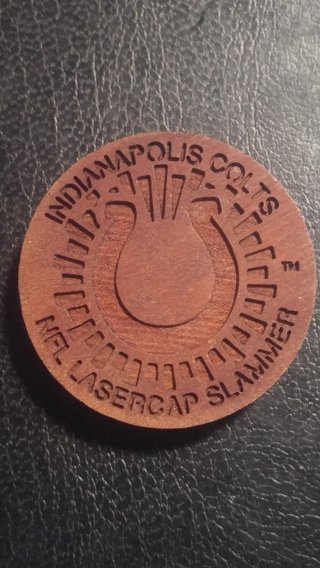 Rare 1994 NFL LASERCAP WOODEN SLAMMER FOR THE INDIANAPOLIS COLTS