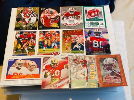 12 CARD LOT OF HOF WR JERRY RICE