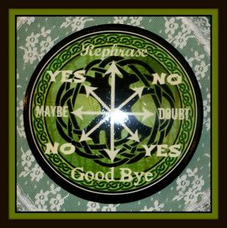 """OOAK Celtic Tree-of-Life Themed PENDULUM BOARD 6.75"""" w/ Black Felt Bottom! Newly Created!"""