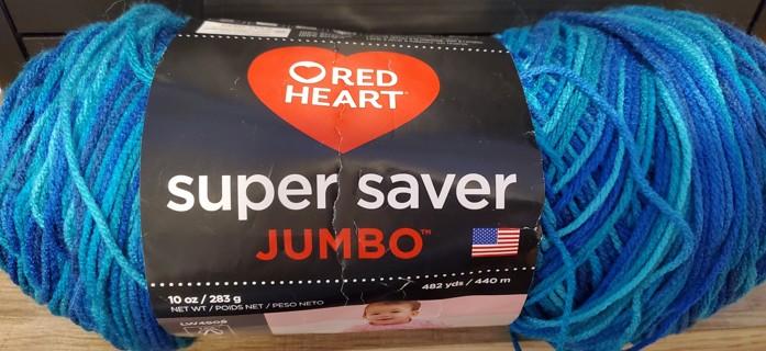 "NEW - Red Heart Super Saver Jumbo Yarn - ""Macaw"""
