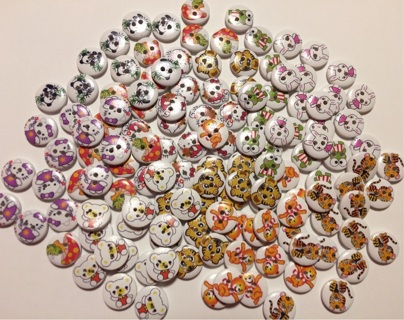 Large kawaii button lot