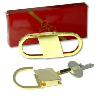 Pull and Twist style Key Ring in Heavy Gold plate