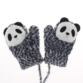 1 Pair Candy Cute Cartoon Thicken Warm Fleece Infant Baby Boys Girls Winter Gloves Newborn Mittens