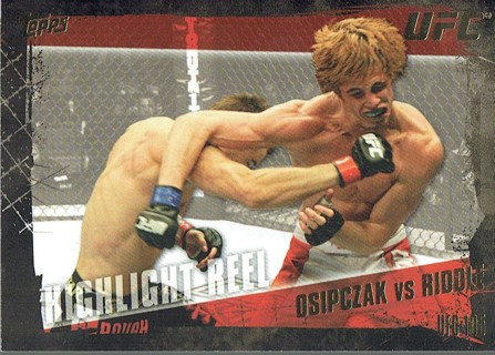 UFC 105 MMA 2010 Topps Collectible Trading Card (Thick Card) Osipczak VS Riddle #200