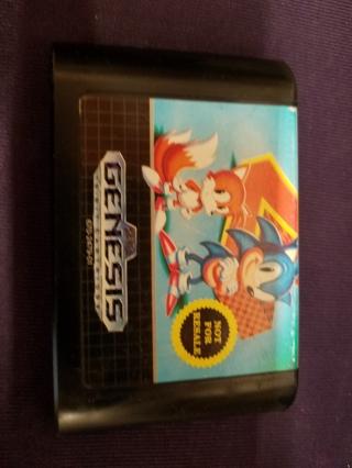 Used Sonic the Hedgehog 2 Game Cartridge (Sega Genesis, 1992)