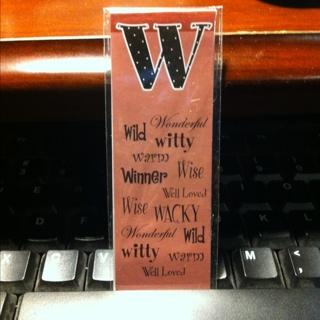 """w"" Bookmark Magnet"