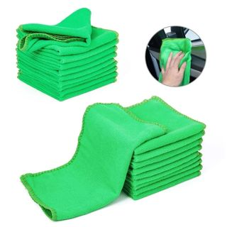 10 Pcs Car Green Microfiber Towel Washcloth Auto Car Care Cleaning Towels soft Cloths