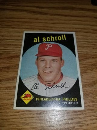 1959 Topps Baseball Al Schroll #546 Philadelphia Phillies,EX cond,High #,Free Shipping!