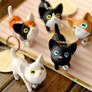 [GIN FOR FREE SHIPPING] Kitten Keychain Bell Cute Bag Hanging Decor