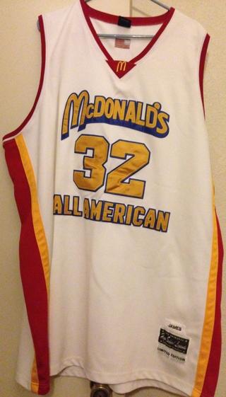 best website faf22 a40ea Free: LEBRON JAMES McDONALD'S ALL AMERICAN JERSEY - Men's ...