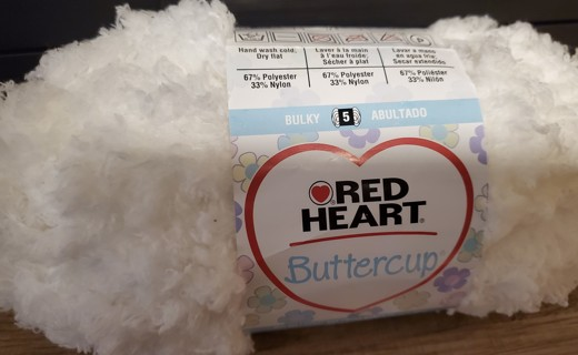 """NEW - Red Heart Buttercup Yarn - """"White"""""""