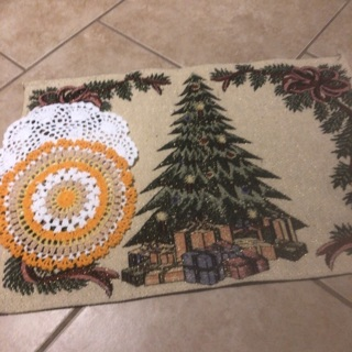 Beautiful Hand Crochet Two Doilies & Free Gift. #75