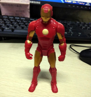 """4"""" MARVEL UNIVERSE Red & Golden Iron Man Loose Action Figure Boy Toy Gift"""