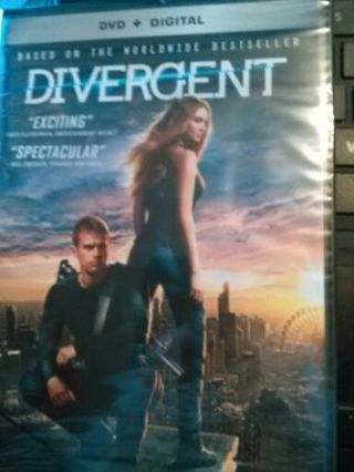 Divergent and Insurgent DVD brand new includes the digital version too!!!