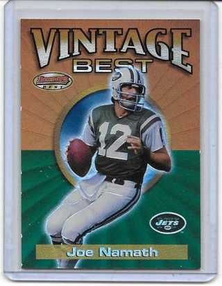 Joe Namath 2001 Bowman's Best Vintage Best #VB-JN