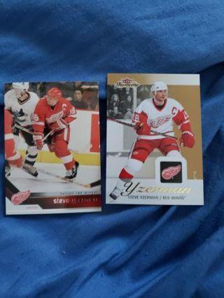 NHL Hockey Steve Yzerman card lot