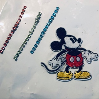 Mickey Mouse Embroided Iron Sew Patch + Bonus