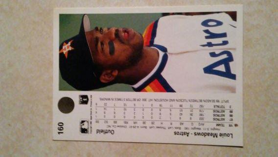 1990/Throwback Houston Astros upper deck trading card