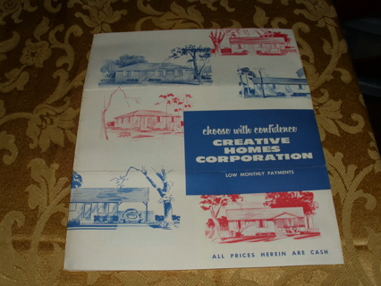 1950's HOME Architecture Brochure from Creative Homes Corp.
