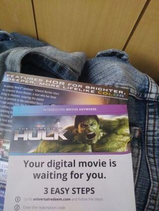 The Incredible Hulk UV Code