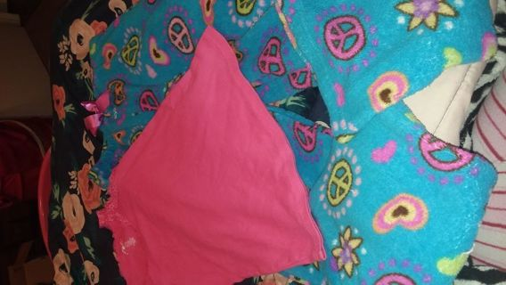 Girl pj pants and strap shirt size 10/12