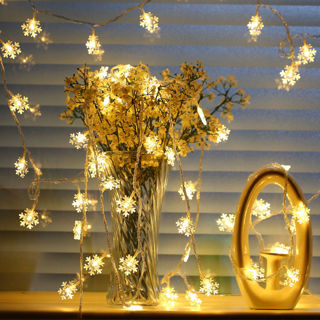 20LED 3M String Fairy Lights Snowflake Xmas Tree Christmas Party Home Decor