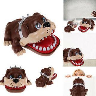 Large Bulldog Mouth Dentist Bite Finger Kids Child Funny Toy Bar Party Game Gift