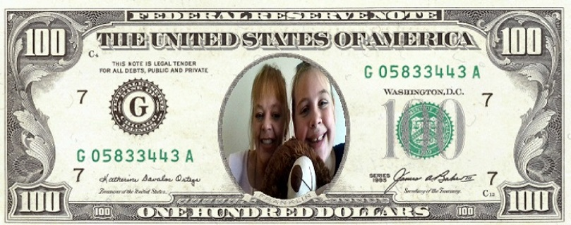 Novelty $100 bill with your pic on it  FREE SHIPPING!!
